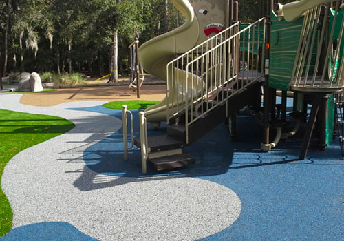poured rubber playground flooring